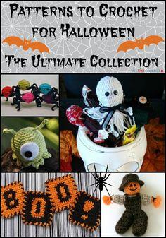 141 Patterns to Crochet for Halloween: The Ultimate Collection. ☀CQ #halloween #pumpkins #treats óÓò