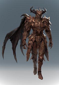 """Personal Work - Dragon Knight"" by Hyunjoong Fantasy Concept Art, Fantasy Armor, Fantasy Character Design, Dark Fantasy Art, Character Design Inspiration, Character Art, Dragon Armor, Dragon Knight, Knight Art"