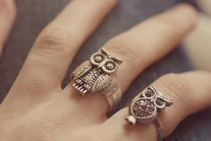 #jewelry #rings #owl