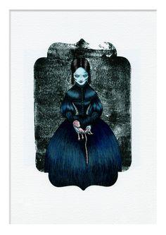 """Die Engelmacherin, die auch eine böse Stiefmutter sein könnte, oder? - Ebeneeza Ks Bilder verschönerten bereits """"Die Guten, die Bösen und die Toten. In der Märchen-Anthologie """"Wer kann für böse Träume"""" darf sie natürlich nicht fehlen"""