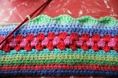 Tutorial - granny stripe pattern. Will use this for the pretty multi-stripe crochet children skirts on my board.