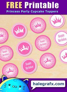 Princess Birthday Cupcakes, Royal Princess Birthday, Pink Princess Party, Princess Cupcake Toppers, Cupcake Toppers Free, Birthday Party Themes, Baby Princess, 5th Birthday, Birthday Ideas