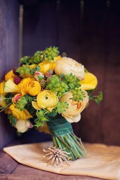 Rustic bouquet - love the colors and flower combination