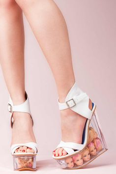 JEFFREY CAMPBELL - SUNNY DOLL'S HEADS WEDGES  ohhhhhh!!!