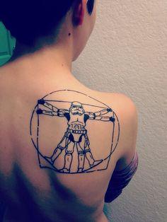 Artist: Sox @ Classic Tattoo, San Marcos, Tx mindlessinfantry.tumblr.com Vitruvian StormTrooper