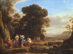 History of Art: Baroque and Rococo - Claude Lorrain » The Judgement of Paris, 1645-46 National Gallery of Art at Washington D.C