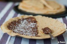 Crêpe au nutella et noix de coco #chandeleur #crepes #nutella
