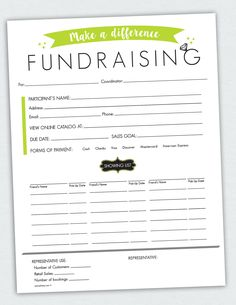 Fundraiser order form order form template and fundraising for Fundraising envelope template