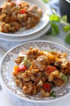 Chicken Fajita Mac and Cheese