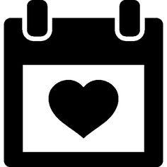 Heart on calendar I Free Icon