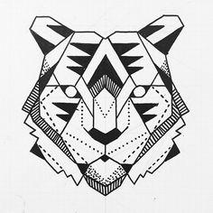 Tattoo design. #tiger #tattoos #tattoo #inked #blackwork #geomatric