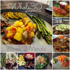 Whole30, Week 2 Meals, Whole30 Meal Planning, Whole30 Prep, Clean Eating