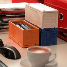 Areaware Cargo Containers, $30. Cheeky storage containers.