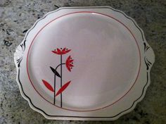 Harker pottery Art Deco serving plate by RetroRedhead55 on Etsy, $9.99