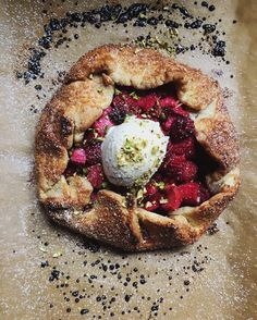 Rhubarb, raspberry and orange flower water galette and some news @FoodBlogs