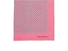 Mens Frog- & Lion-Print Silk Pocket Square Salvatore Ferragamo bQgVY