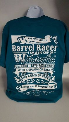 Barrel Racing, Barrel Racer, Rodeo,Horses, I'm Not Just A Barrel Racer Unisex vinyl graphic tee by CountrySweethearts on Etsy