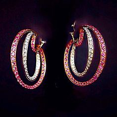 #scavia #jewel #jewels #jewelry #jewellery #earrings #pink #white #gold #gems…