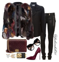 bye fur till next time by fashionkill21 liked on polyvore featuring balmain