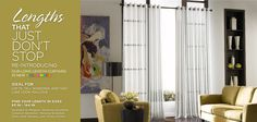 Awesome website for affordable long length curtains! Will definitely be spending some time browsing these.