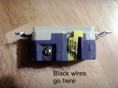 Connections for the hot (black) wires
