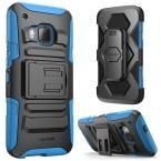 Prime Dual Layer Holster Case for HTC One M9, Blue