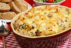 Рецепт макаронной запеканки с овощами
