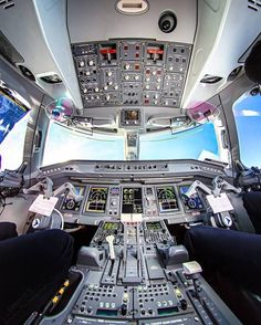 """16.5k Likes, 46 Comments - Official Instagram Aviation™ (@instagramaviation) on Instagram: """"Spaceship view?✈ Austrian Airlines Embraer 190 cockpit at Vienna intl. Airport by…"""""""