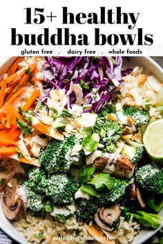 Hop on the buddha bowl train with these 15 incredible buddha bowl recipes! They are all healthy, gluten free, whole foods focused, and most are vegan too. Get the best buddha bowl sauce and dressing ideas and learn why buddha bowls are so great for you! Whole Food Recipes, Vegan Recipes, Vegan Food, Dairy Free, Gluten Free, Unprocessed Food, Buddha Bowl, Bowls, Clean Eating
