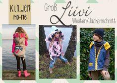E-Book Steppweste/Jacke Liivi Teens # von FeeFeeFabrics # Gr 140 - 176