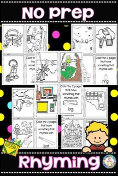 Welcome your PK and Kindergarten students back to school with these no prep fun foldable books. Students look for something on each page that rhymes with the picture on the cover. Use the information gathered from their responses as a formative assessment to guide your phonological awareness activities in small group.