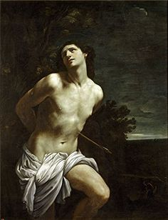 The High Quality Polyster Canvas Of Oil Painting Reni Guido Saint Sebastian  size 12 X 16 Inch  30 X 40 Cm this Amazing Art Decorative Prints On Canvas Is Fit For Kitchen Artwork And Home Artwork And Gifts * Check this awesome product by going to the link at the image.