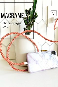 Learn how to use the simple #macrame Spiral Stitch to beautify your phone charger card.