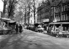 De markt in de Dapperstraat in Amsterdam, Nederland [1930-1940].