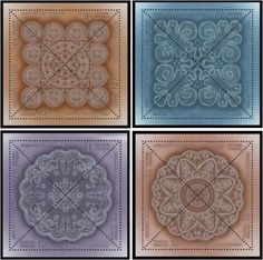 Russia is honoring its lacemaking tradition by featuring handmade lace on four sets of postage stamps. Each block–the full image–separates into four triangular stamps. Postage Stamp Art, Textiles Techniques, Lacemaking, Vintage Handkerchiefs, Silk Ribbon Embroidery, Art Series, Bobbin Lace, Needlework, Crafty