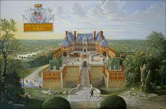 Reconstitution du château de Sorel vers le milieu du XVIIe siècle