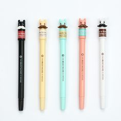 1 Pcs M&G 0.5 Mm Black Mustache Style Kawaii Gel Pens Cute Korean Stationery For Offices Schools Supplies Chenguang