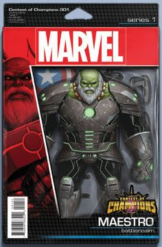 Marvel - Contest of Champions (2015) #1 - Action Figure Variant Cover