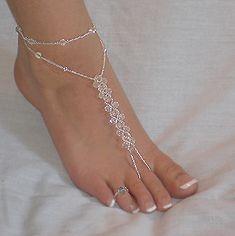 Crystal barefoot sandals