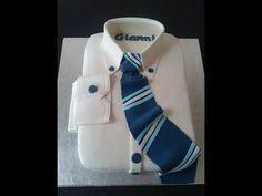 Come realizzare una Torta camicia,Cake Decorating White Collar Pride Cake - YouTube