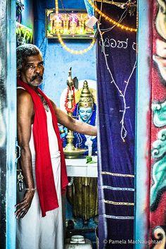 A holy man in Colombo, Sri Lanka