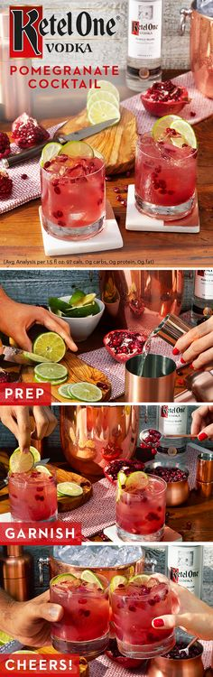 Smooth vodka + fresh pomegranate = a match made in heaven. Made with 100% non-GMO grain and no added sugar, Ketel One Vodka is easy to fall for. So spend Valentine's Day with a fresh, homemade pomegranate cocktail. To make, simply mix 1.5 oz. Ketel One Vodka, 1 juiced lime, 1.5 oz. pomegranate juice, and garnish with 2-3 lime rounds and 2 tbsp pomegranate arils. Cheers!