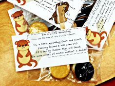 Groundhog Day treat bags for the kids today!