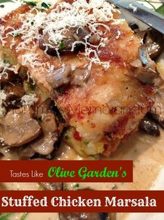 Olive Garden's Stuffed Chicken Marsala #Recipe #chicken #copycat