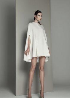 Wool cape dress by Kamila Gawronska Kasperska Prom Dresses 2015, Designer Prom Dresses, Prom Dresses For Sale, Bridesmaid Dress Sale, Look Formal, Wool Cape, Cape Dress, Cheap Wedding Dress, Minimal Fashion