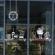 Cake Coffee Cafe Tea Shop Window Sign Stickers Decal Vinyl Business Decor
