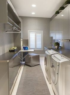 Control over the home's lights, thermostats, security system, audio/video components and surveillance cameras can be accomplished from nearly any room of the house--including the laundry room.