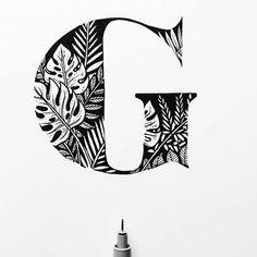 "WEBSTA @ goodtype - ""G"" by @stephanieeedraws #StrengthInLetters #Goodtype"