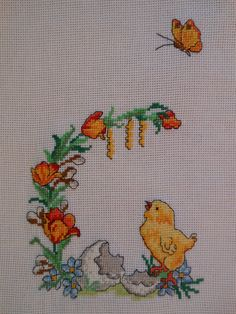 Hand Embroidery Patterns, Cross Stitch Embroidery, Easter Cross, Cross Stitch Alphabet, Handicraft, Diy And Crafts, Gift Wrapping, Scrapbook, Sewing