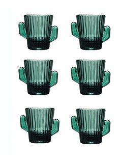 6 Cactus Shot Stamper Schnaps Tequila Gläser Glas 5 cl